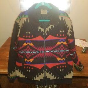 Pendleton tribal wool bomber